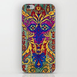 Abstract Cat Painting by Louis Wain iPhone Skin