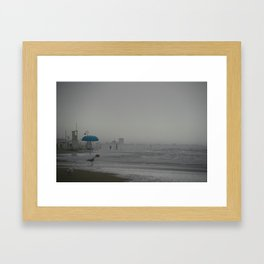 Stormy Beach Italy Framed Art Print