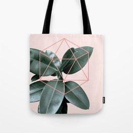 Geometric greenery III Tote Bag