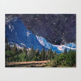 Night Sky Mountain Canvas Print