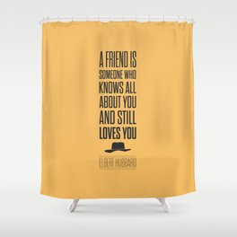 Lab No. 4 - Elbert Hubbard American Writer Motivational Typography Quotes Poster Shower Curtain