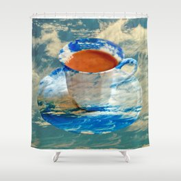 CUP OF CLOUDS Shower Curtain