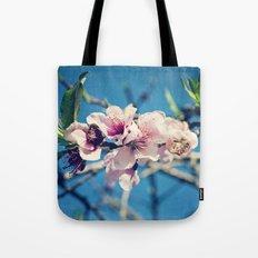 Nectarine Blossoms Tote Bag