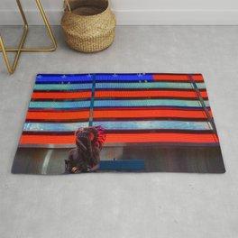 Native American & Flag of America Rug