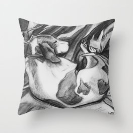 Hound Sleeping Sound Throw Pillow