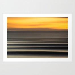 East Coast Lines Art Print