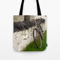 cycle Tote Bags featuring Cycle by Sarah Ridings
