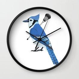 Lacrosse Blue Jay Wall Clock
