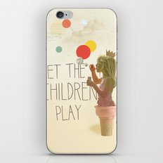 Let the children play iPhone Skin