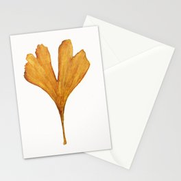 Three Ginkgo Leaves Stationery Cards