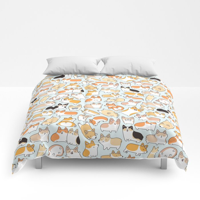 Corgilicious Corgi Doodle Comforters