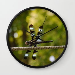 Black and White Dragonfly Wall Clock