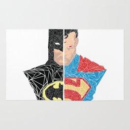 Human vs Kryptonian Rug