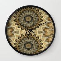 llama Wall Clocks featuring Llama by Kimberly McGuiness