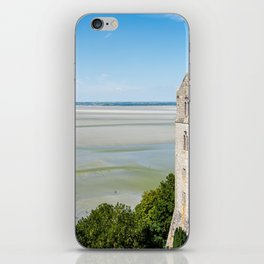 Mont Saint-Michel and the bay at low tide iPhone Skin