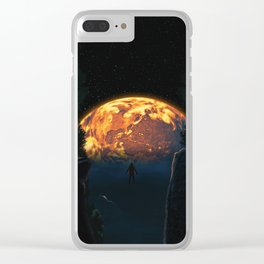 """""""EARTH NEEDS YOU"""" Magical Dramatic Dreamscape Clear iPhone Case"""