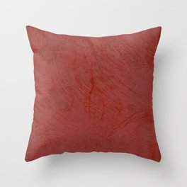 Tuscan Red Stucco - Rustic Glam Throw Pillow