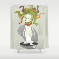 medusa Shower Curtains featuring Medusa by Rod Perich
