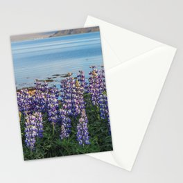 Lupins by the Fjord 2 Stationery Cards