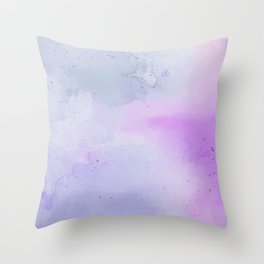 Soft Watercolours - Lavendar Throw Pillow