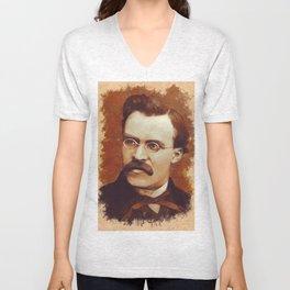 Friedrich Nietzsche, Philosopher Unisex V-Neck