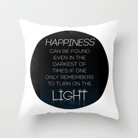 dumbledore Throw Pillows featuring Harry Potter Albus Dumbledore Quote by raeuberstochter