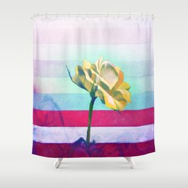 Flower Study #6 Chroma Shower Curtain