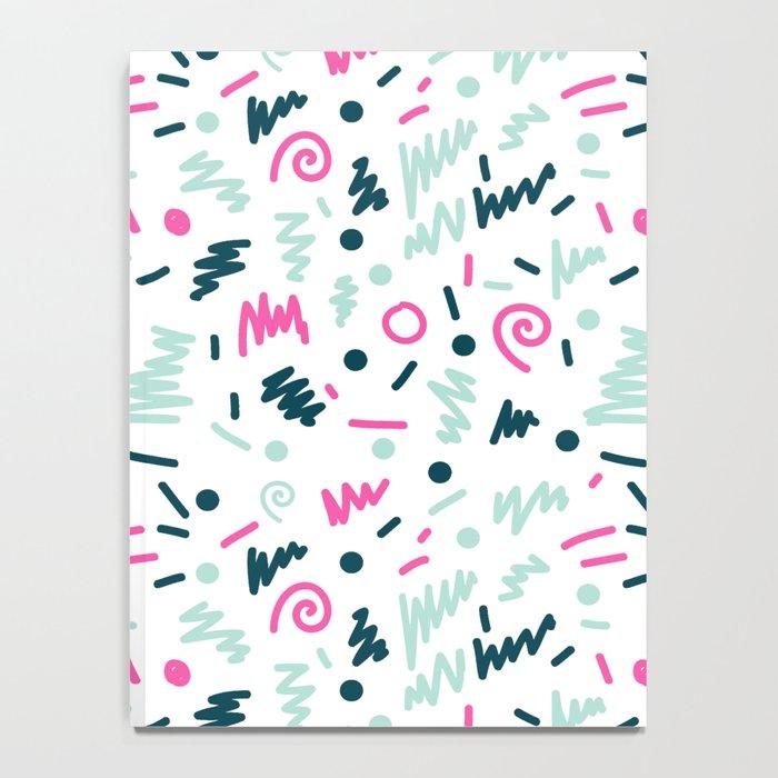Tsigge - zig zag modern minimal pop art abstract painting minimal design urban hipster retro vintage Notebook