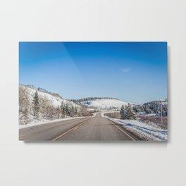 Winter in the Foot Hills of the Rockies, Hwy 2, Montana Metal Print