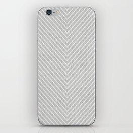 Stitch Weave Geometric Pattern in Grey iPhone Skin
