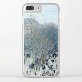 Claude Monet - Boulevard des Capucines, 1873 Clear iPhone Case