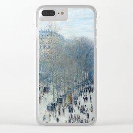 Claude Monet - Boulevard des Capucines, 1873 Clear iPhone Case