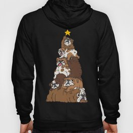 Christmas Tree English Bulldog Hoody