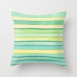 Green stripes. Throw Pillow