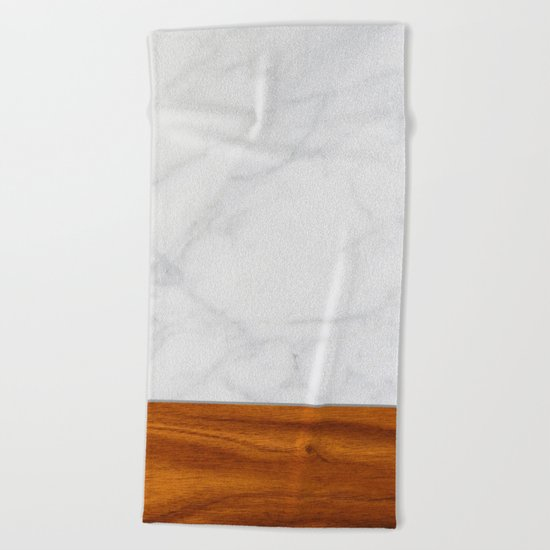 Marble and Wood 2 Beach Towel
