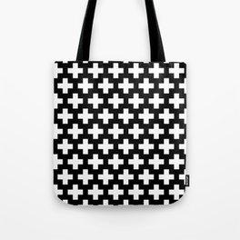 Swiss Cross W&B Tote Bag