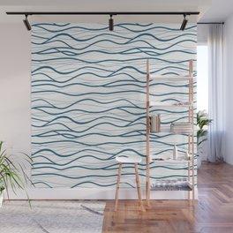 Seapattern. Hand drawn waves Wall Mural