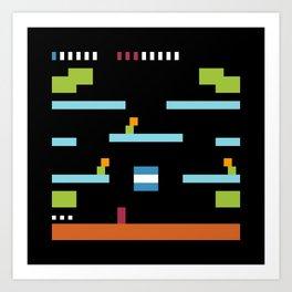Minimal NES: Mario Bros. Art Print