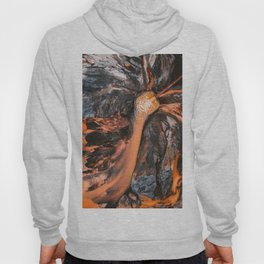 Abstract Painting - Volcano Eruption Aerial Hoody