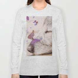 Day Dreaming - Old Dog's Nap - #society6 #buyart Long Sleeve T-shirt