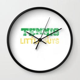 Table Tennis Tennis For The Little Guys Distressed Wall Clock