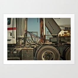 On the Road. Art Print