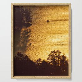 Golden Waters on Newfound Lake Serving Tray