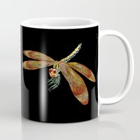 dragonfly Mugs featuring Dragonfly by Tim Jeffs Art