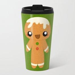 Christmas Card - Gingerbread Kid Travel Mug