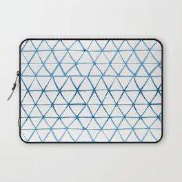 Indigo Geo Triangle Pattern Laptop Sleeve