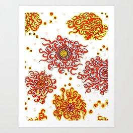 Hand drawn pattern design - Nairobi Art Print