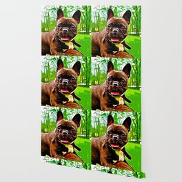 french bulldog basketball vector art Wallpaper