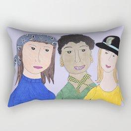 Three Friends  Rectangular Pillow