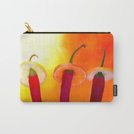 Red chili peppers. Hola Amigo Carry-All Pouch